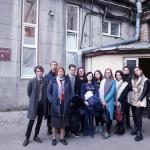 Е.А. Лесникова с группой студентов