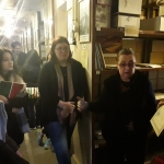 Н.Г. Павлова и студенты в архивохранилище личных фондов
