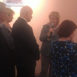 Первую экскурсию по выставке проводит Е.Р. Курапова